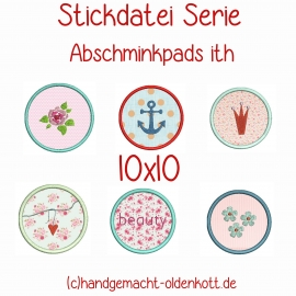 Stickdatei Abschminkpads ith 10x10