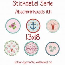 Stickdatei Abschminkpads ith 13x18