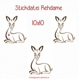 Stickdatei Rehdame 10x10