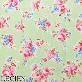 Lecien Patchwork Baumwoll Stoff Antique flower hellgrün 35066-60