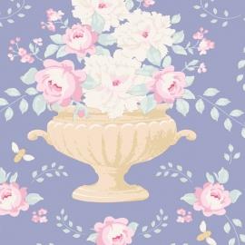 Tilda Stoff flowerbees blue 100221