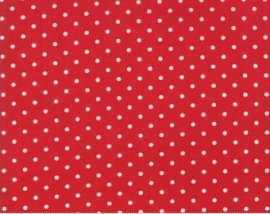 moda Brenda Riddle good tidings 18666-17 red dots