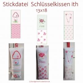 Stickdatei Schluesselkissen 13x18 ith