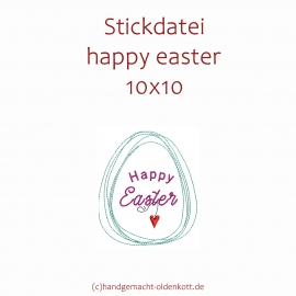 Stickdatei happy easter 10x10