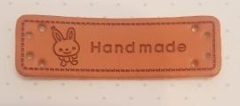 Lederetikett Hase Hand made