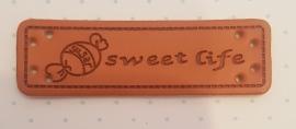 Lederetikett Bonbon sweet life