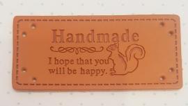 Lederetikett Eichhörnchen Handmade