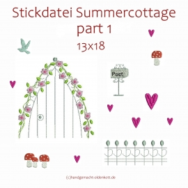 Stickdatei Serie Summercottage Part 1 13x18