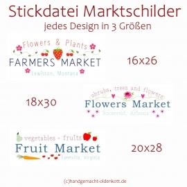 Stickdatei Marktschilder