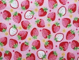 KOKKA Baumwollstoff Erdbeere LOA-49010