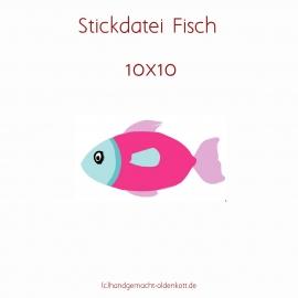 Stickdatei Fisch 10x10