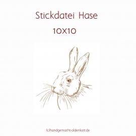 Stickdatei Hase 10x10
