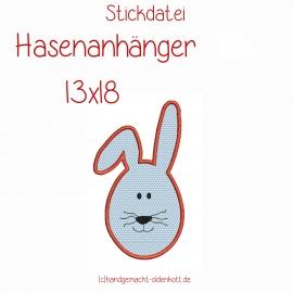 Stickdatei Hasenanhaenger 13x18
