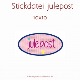 Stickdatei julepost 10x10 Applikation