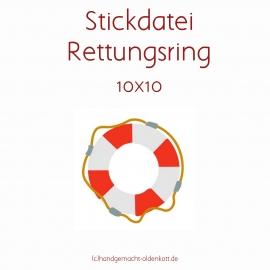 Stickdatei Rettungsring 10x10