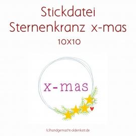 Stickdatei Sternenkranz x-mas 10x10