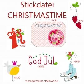 Stickdatei Christmastime 13x18 10x10