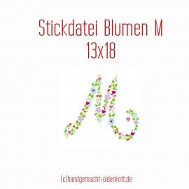 Stickdatei Blumen M 13x18