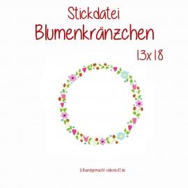 Stickdatei Blumenkraenzchen 13x18