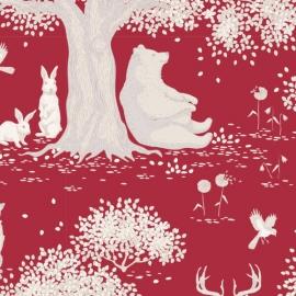 Tilda Stoff Woodland red 100293