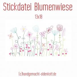 Stickdatei Blumenwiese 13x18
