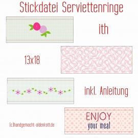 Stickdatei Serviettenringe ith 13x18