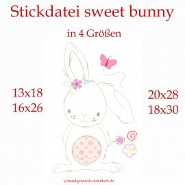 Stickdatei sweet bunny