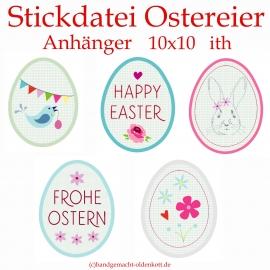 Stickdatei Ostereier Anhaenger ith 10x10