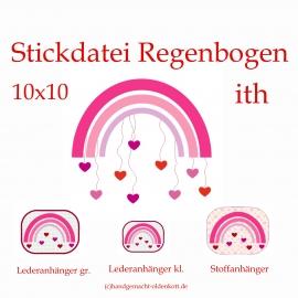 Stickdatei Regenbogen 10x10 ith