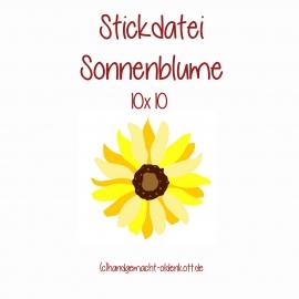 Stickdatei sunflower 10x10