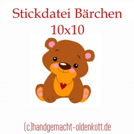Stickdatei Bärchen 10x10