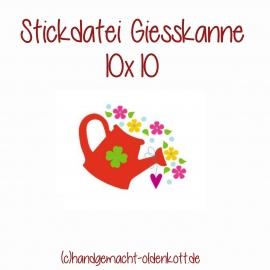 Stickdatei Giesskanne 10x10