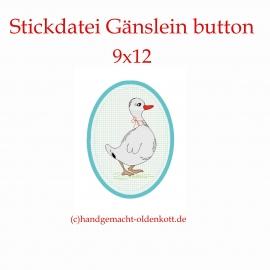 Stickdatei Gänslein button 10x10