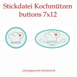 Stickdatei Kochmützen buttons 10x10