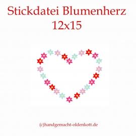 Stickdatei Blumenherz