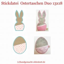 Stickdatei Osterhasen Duo ith 13x18