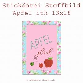 Stickdatei Stoffbild Apfel ith 13x18