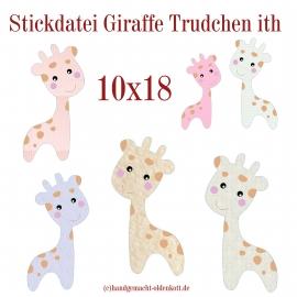 Stickdatei Giraffe Trudchen ith 10x18