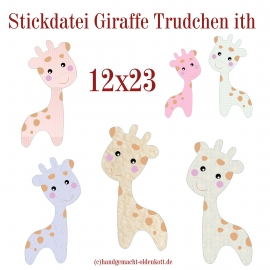 Stickdatei Giraffe Trudchen ith 12x23