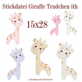 Stickdatei Giraffe Trudchen ith 15x28