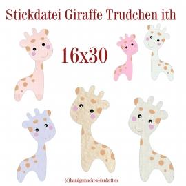 Stickdatei Giraffe Trudchen ith 16x30