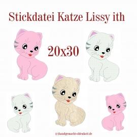 Stickdatei Katze Lissy ith 20x30