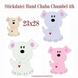 Stickdatei Hund Chuba Chumbel ith 23x28