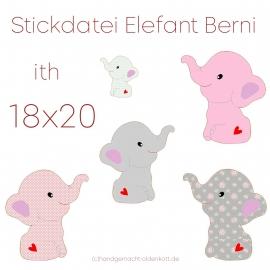 Stickdatei Elefant Berni ith 18x20