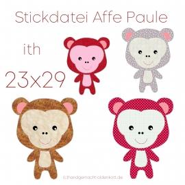 Stickdatei Affe Paule ith 23x29