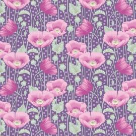 Tilda Stoff Gardenlife Poppies lilac  100306