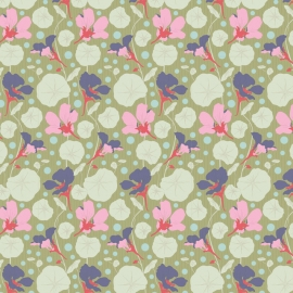 Tilda Stoff Gardenlife Nasturtium green 100311