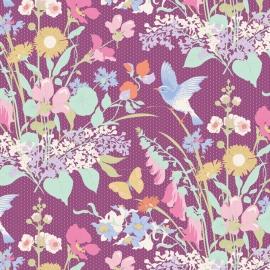 Tilda Stoff Gardenlife plum 100310