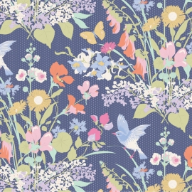 Tilda Stoff Gardenlife blue 100318