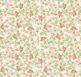 Riley Blake Designs Rose & Violets Garden Sweet Blossoms 10413 Cream